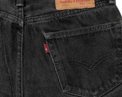 PANTS – LEVI'S – 505 BLACK WASHED  – Size S