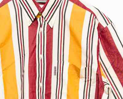 CHEMISE	– CACHAREL – RAYURE YELLOW/RED – Size L