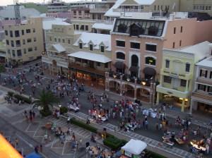 Front Street in Downtown Hamilton Bermuda