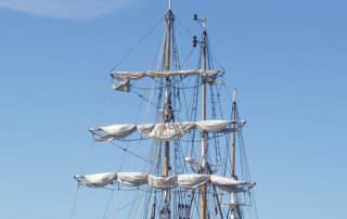 Old Ship Sailing Masts
