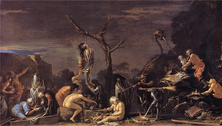 Image result for salvator rosa body on a gibbet