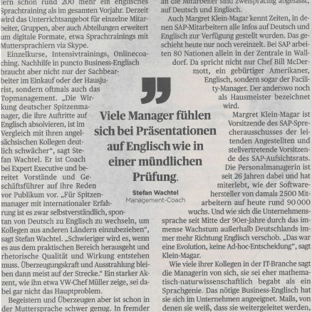 Handelsblatt Karriere | 24. November 2017 | Lost without Translation | Claudia Obmann