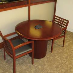 Used Conference Table Chairs The Revolving Chair Vecta 42 Round Executive Liquidation