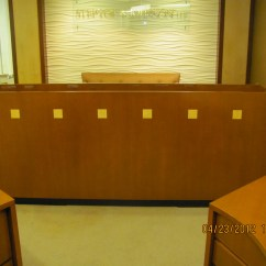 Allsteel Task Chair Disney Table And Chairs Reception Desk-round   Executive Liquidation – Quality Used Office Furniture