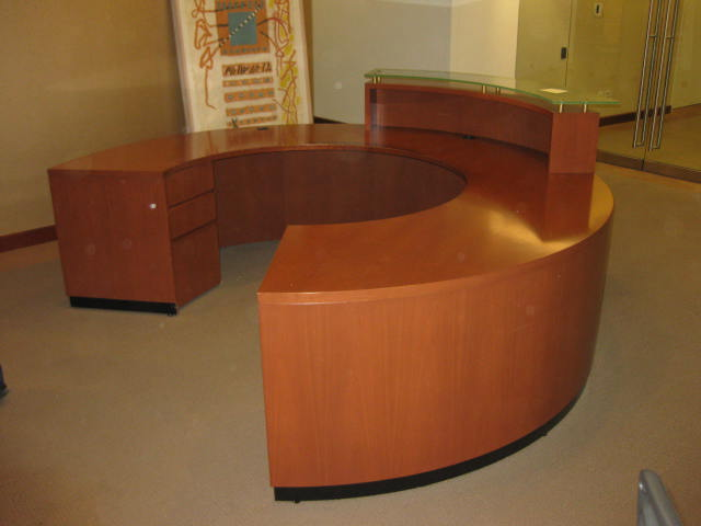 hon desk chair used wheel chairs reception desk-round | executive liquidation – quality office furniture