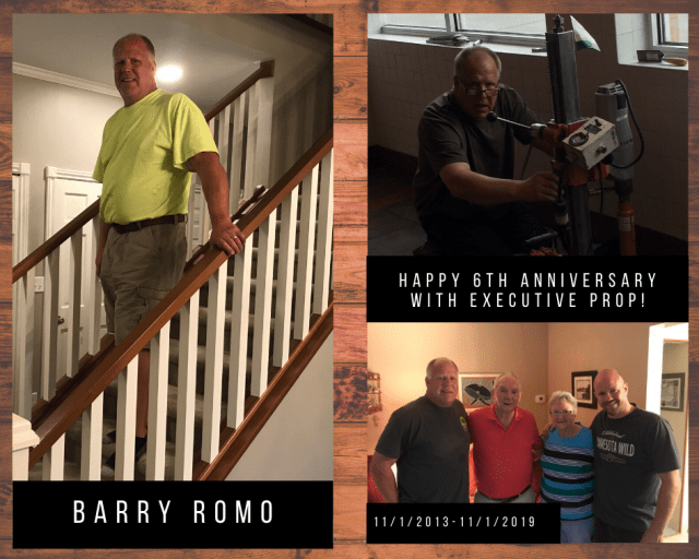 Executive Properties & Construction would like to congratulate Barry Romo on 6 years with the company!