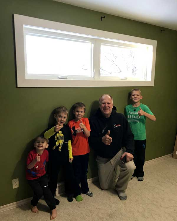 Window Project thumbs up