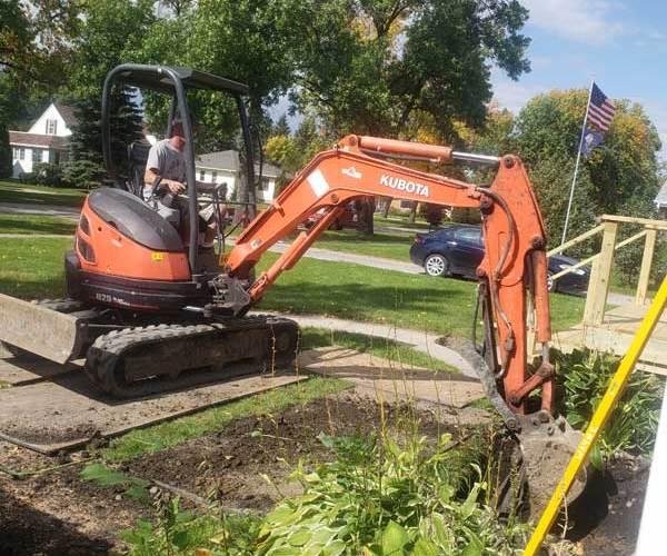 Wayne-egress-digging