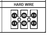 Inverters with outlets converted to HARDWIRE option