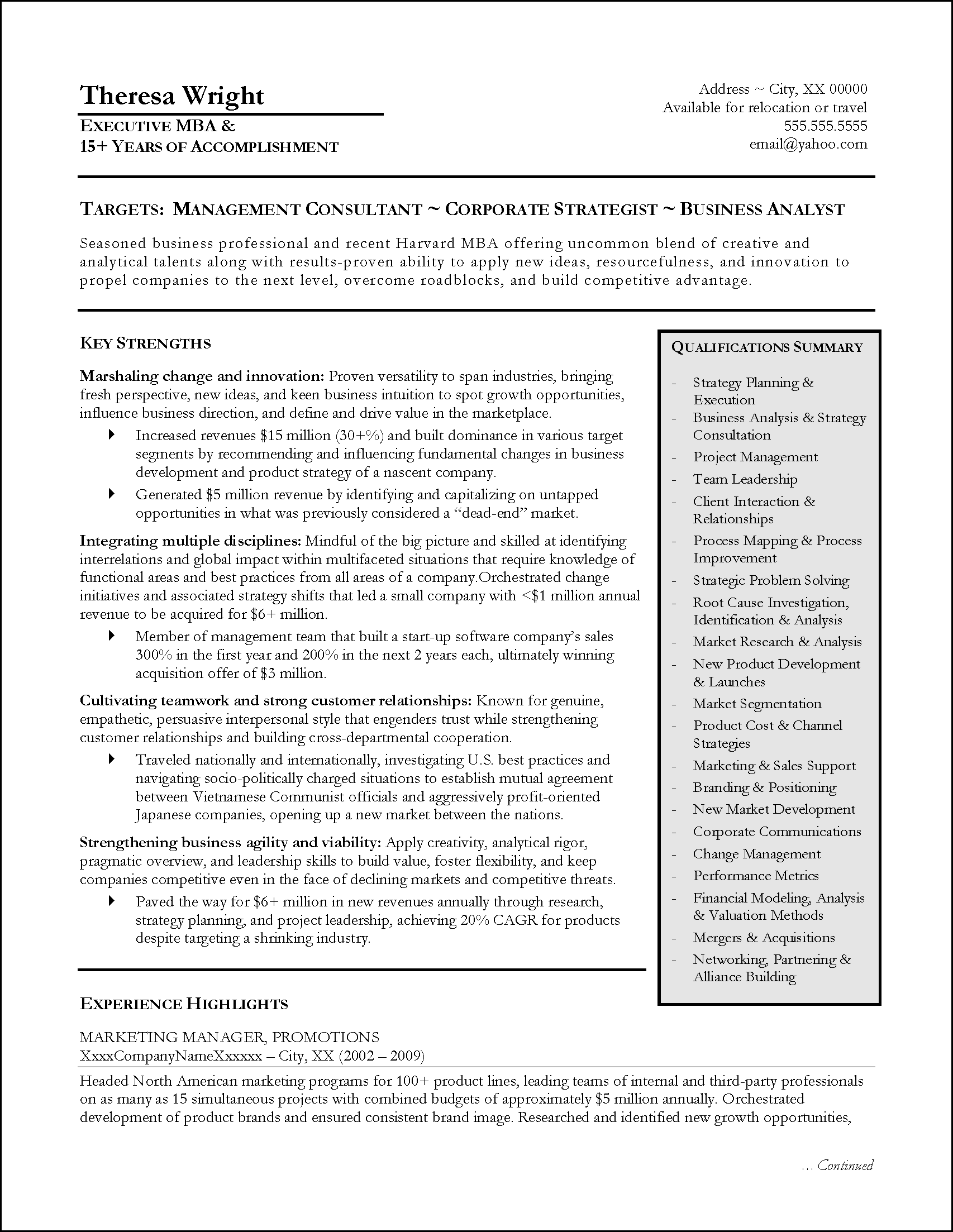 VIP Resume6 Gray Page 1