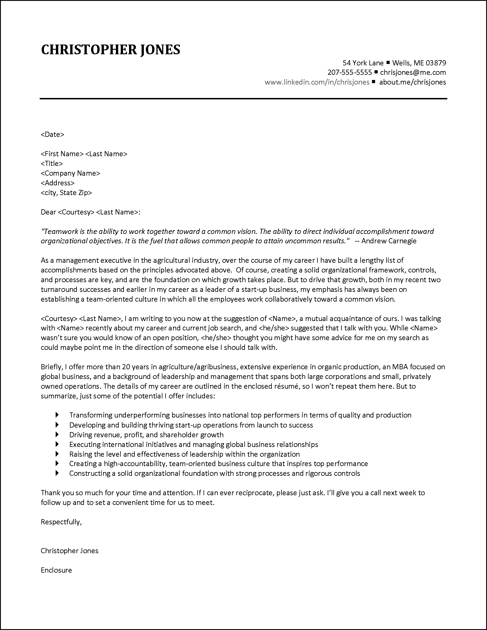 cover letter for automotive industry
