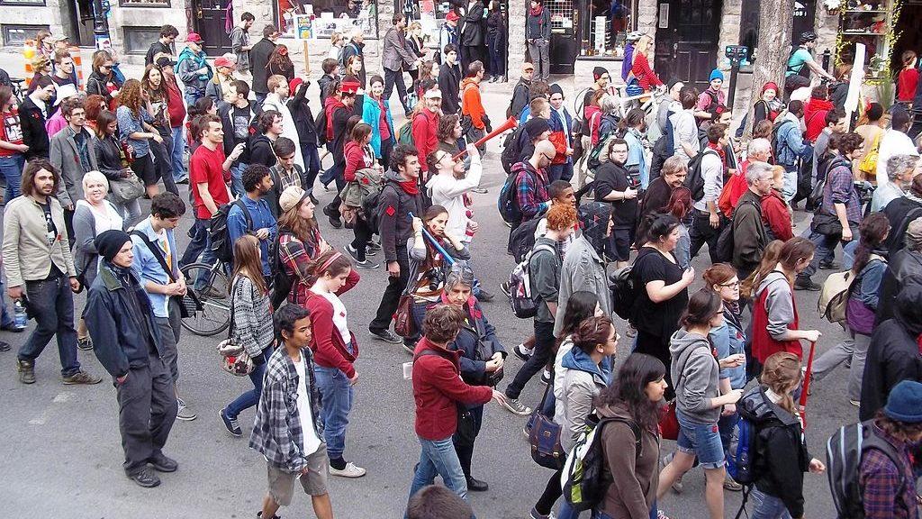 Groupe de manifestants