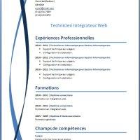 Exemple et modèle de CV gratuit WORD