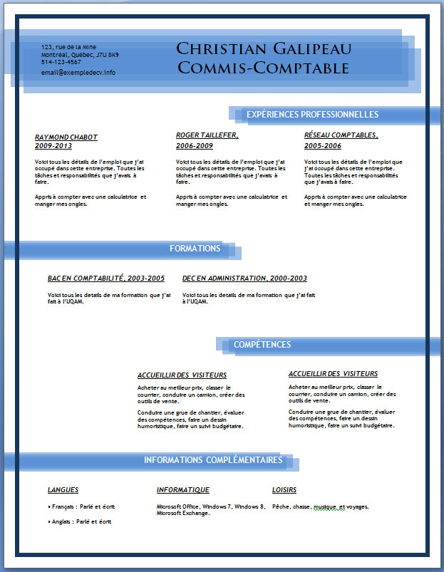 Cv Format For Eu Create Professional Resumes Online For