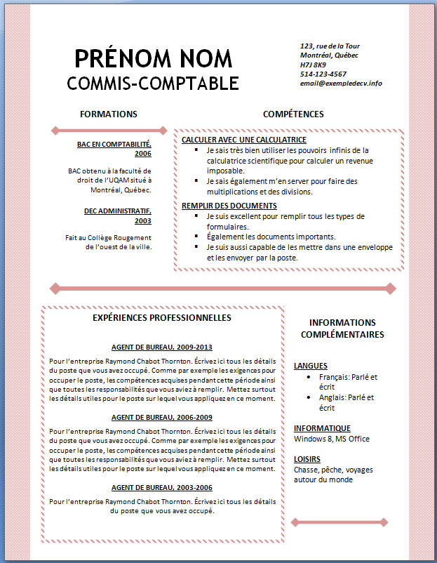 Cv Format Gratuit Graduation Requirements Mde