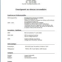 Exemple et modèle de CV #185 Enseignant(e) au niveau secondaire