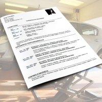 CV d'un mécanicien automobile, technicien en mécanique