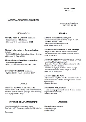 Exemple De CV Assistante De Communication Exemples De CV