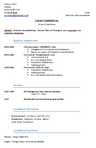 Cv Europass English Filled Free Downloadable Resume Templates