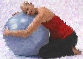 exercise ball as birthing ball
