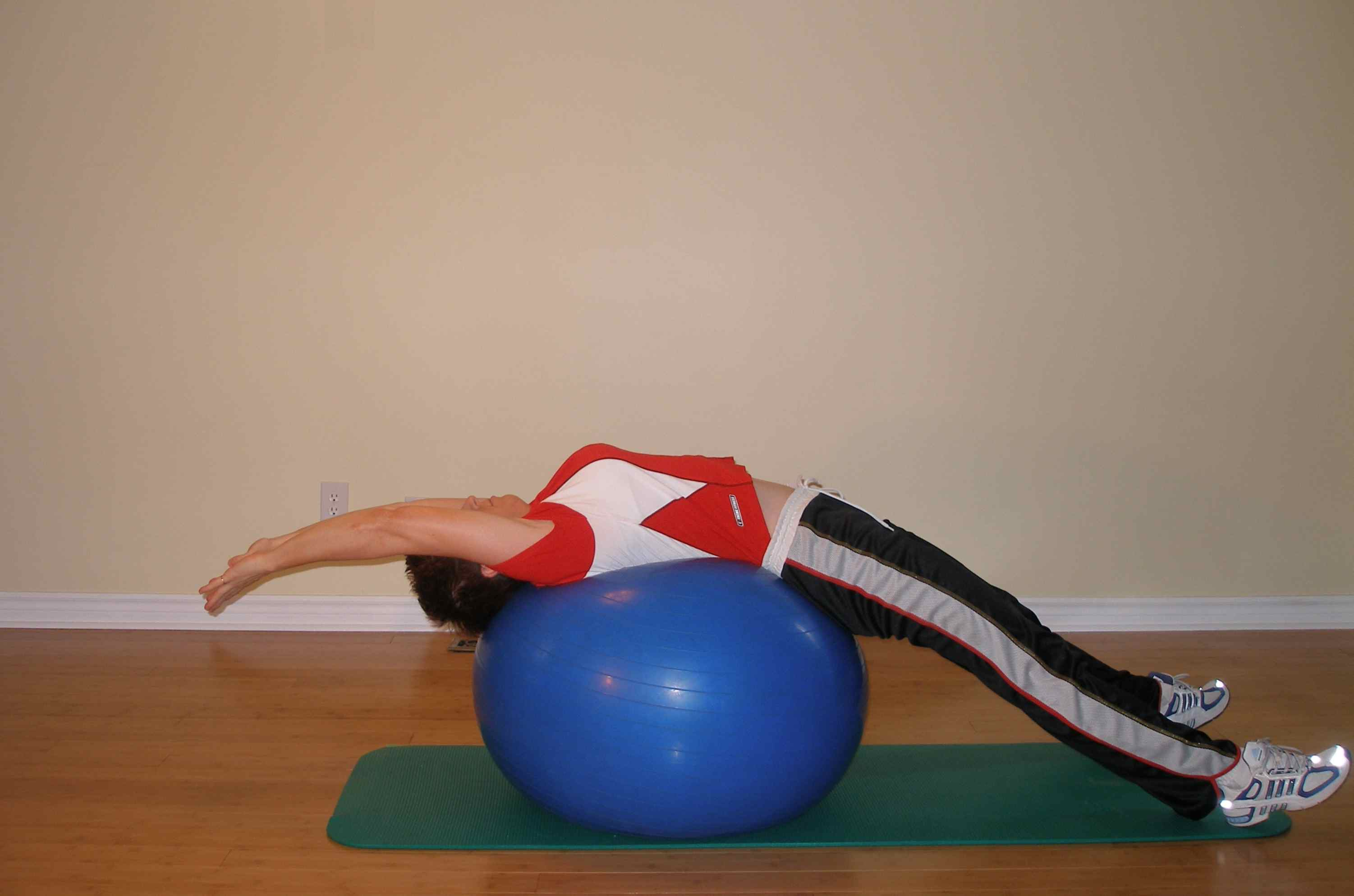 Exercise Ball Stretching
