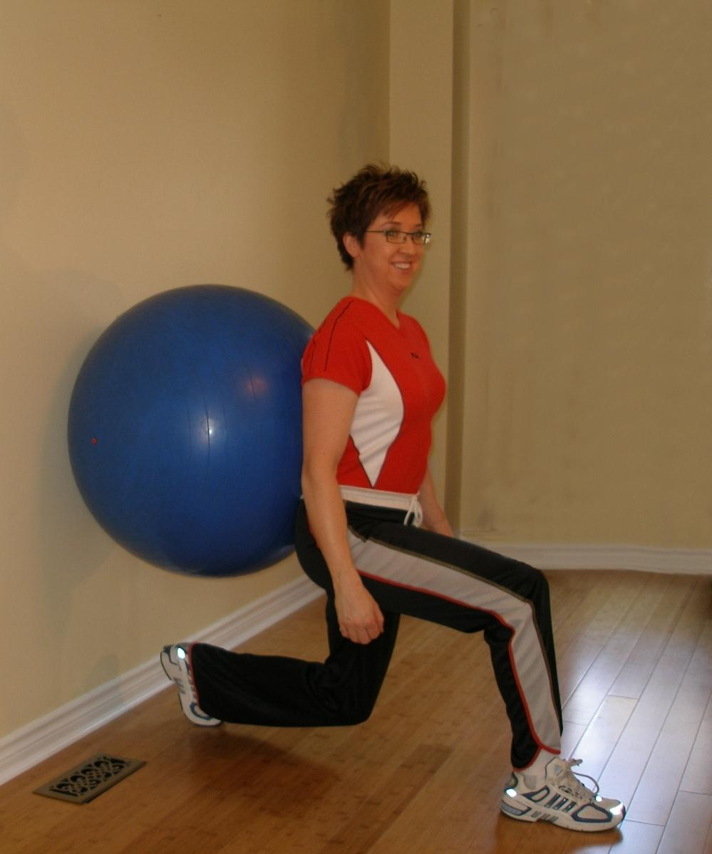 Lunge Ball Exercise