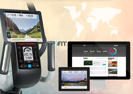 Hybrid trainer with iFit LIVE