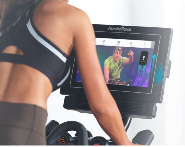 exercise bike with screen