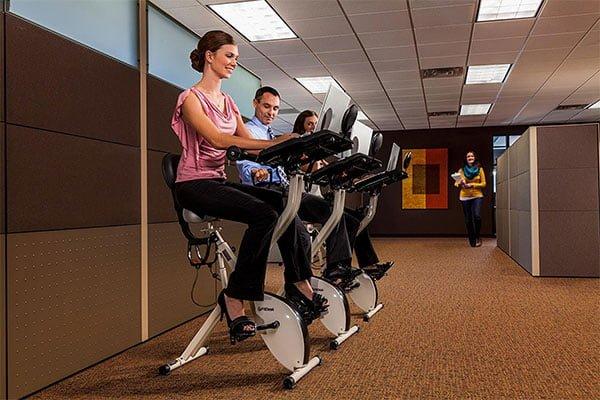 FitDesk 2.0 Desk Exercise Bike with Massage Bar