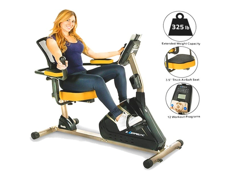 Exerpeutic-4000-Magnetic-Recumbent-Bike-with-12-Workout-Programs