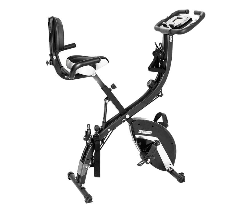 Pexmor 3 in 1 folding stationary exercise bike