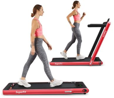 Goplus 2 in 1 Folding Treadmill