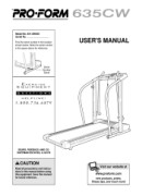 ProForm 635cw-Treadmill Manual Downloads