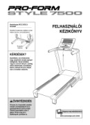 ProForm Style 7500 Treadmill Manual Downloads