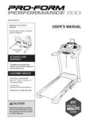 ProForm Performance 600i Treadmill Manual Downloads