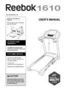 Reebok 1610-Treadmill Manual Downloads
