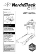 NordicTrack C990-Treadmill Manual Downloads