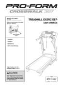 ProForm Crosswalk 397 Treadmill Manual Downloads