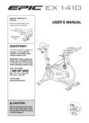Epic Fitness Ex 1410 Bike Manual Downloads