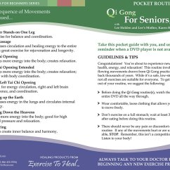 Chair Exercise For Seniors Handout Best Nursing Qi Gong Select To View The Pocket Routine Guide