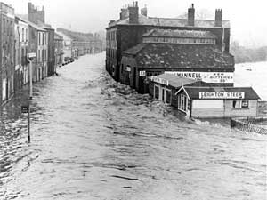 Floods in 1960 near Beach Brothers