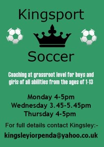 KingSport Soccer (Mondays)