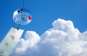 夏雲と風鈴
