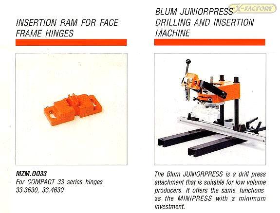 Blum Press In Hinges