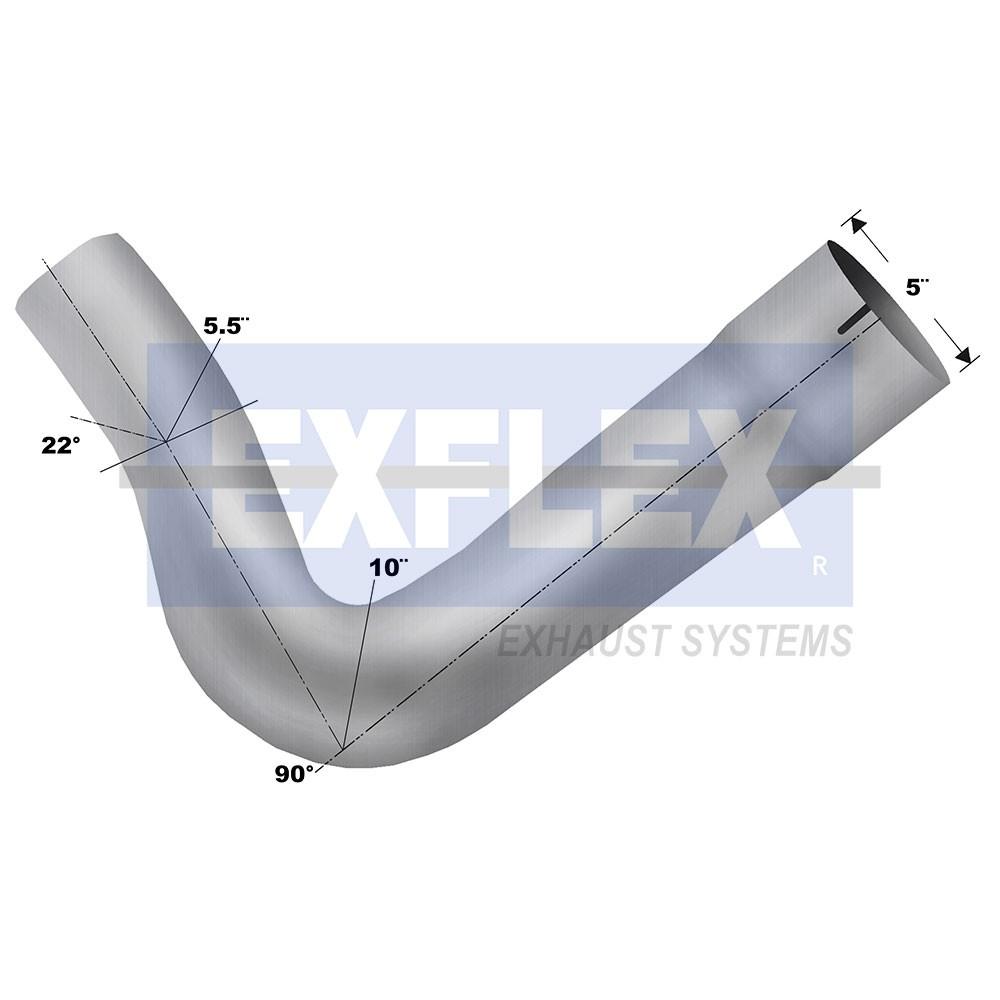 aluminized elbow 5 diameter kenworth