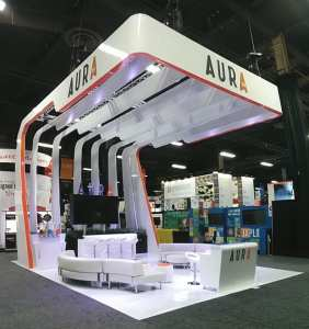 Aura XM uses Gloss Flex at EXHIBITOR 2014.