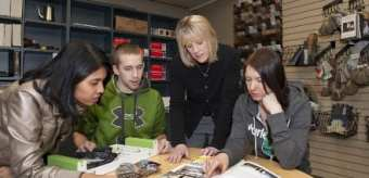 Students with Associate Professor Dr. Bonnie Higgins.