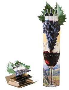 Tolavina Wine: Elliptical Column w/Side Extensions, Lug-On & Die-Cut Header **image showing display before & after deployment