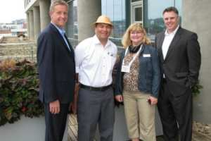 From left to right are Director of Sales & Marketing Tod Roadarmel, Director of Engineering Gonzalo Hernandez, ASAE Convene Green Alliance Director Kristin Clarke, and Director of Convention Services and Catering Michael Hiltabidel.