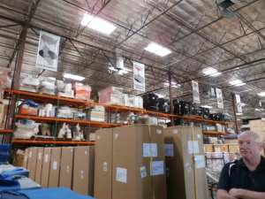 Las Vegas City Manager Rick Watts at the Sunset Transportation warehouse.